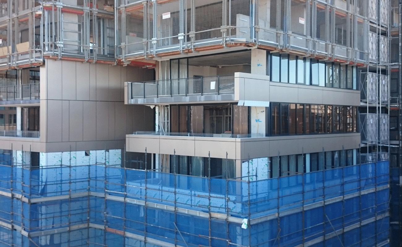 Vitrabond FR on Wentworth Point Apartments